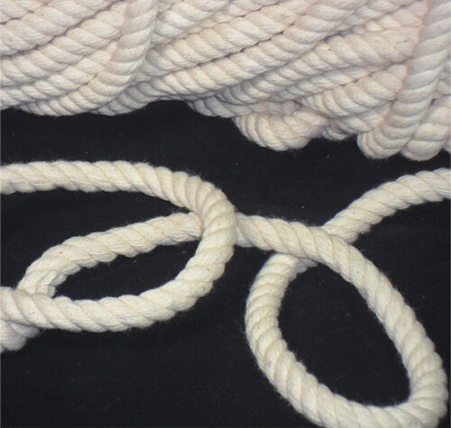 Cotone Corda Generale Multi Usare Morbido Intrecciato Bianco Bondage Molti Lungo
