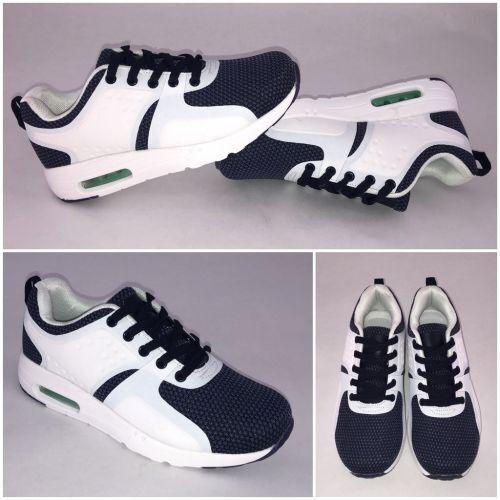 Coole HERREN Unisex AIR Sportschuhe WEISS Sneakers BLAU