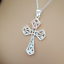 """thumbnail 7 - 925 Sterling Silver Cross Pendant Necklace Religious Inspirational 18"""""""