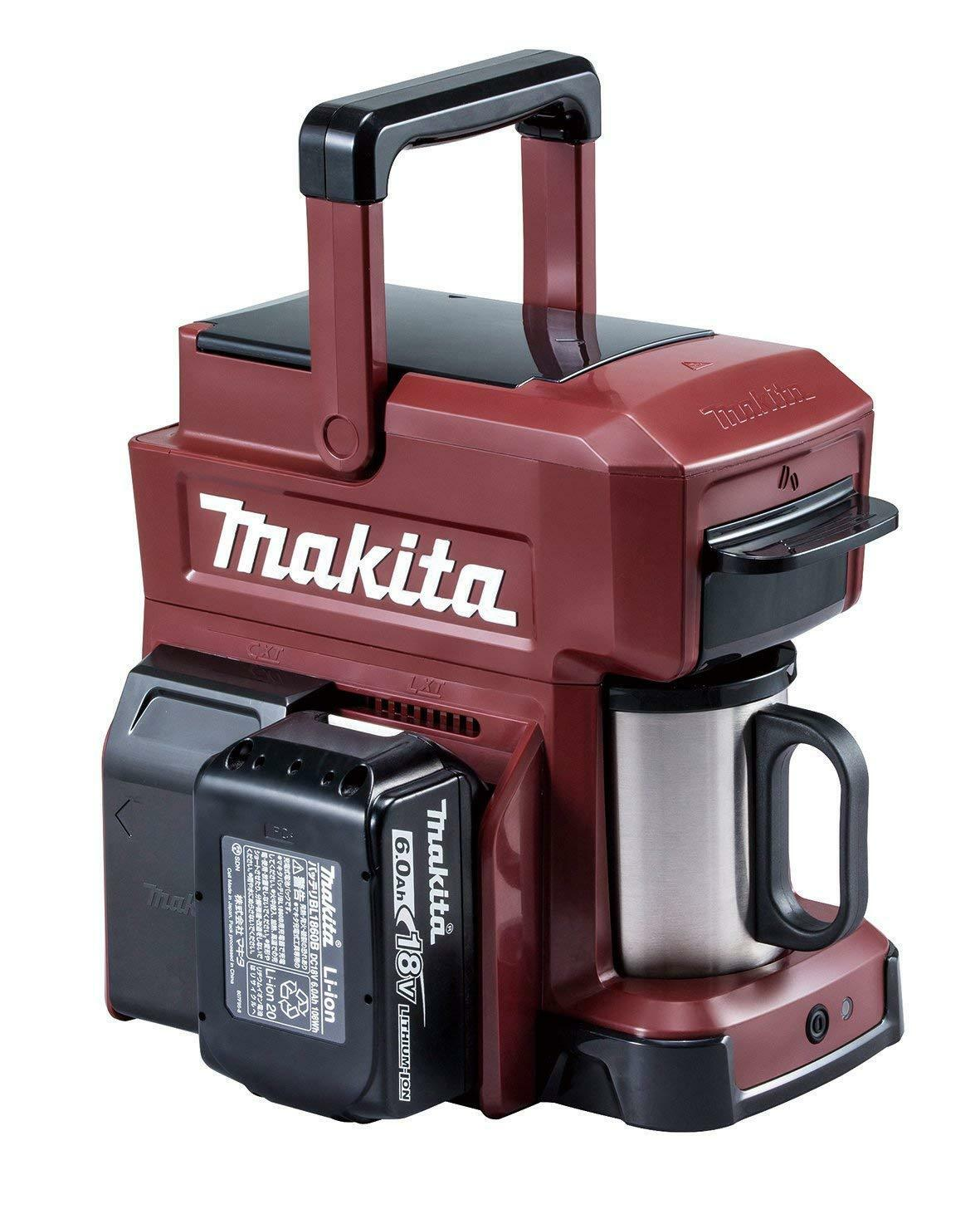 Makita CM 501 DZAR Portable Chargeur Cafetière Rouge Corps Seulement EMS avec suivi