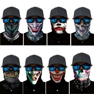SPF40 Face Shield Mask Skulls Gaiter Fishing Cycling Outdoor Balaclava Scarf