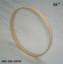 "16"" Maple Bass Drum Hoop / Ring / Rim (Rounded Front) Unfinished 002-106-285W"