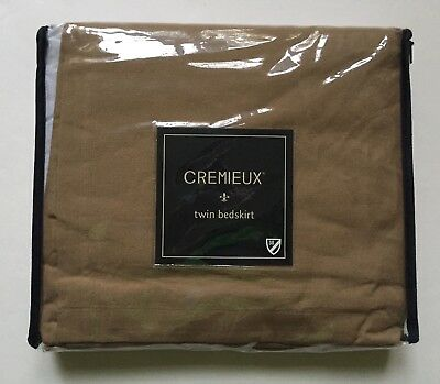 Cremieux Black Denim Bedskirt Dust Ruffle Choice of Twin Or King New