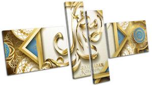 Arabic-Islam-Quran-Abstract-Religion-MULTI-CANVAS-WALL-ART-Picture-Print