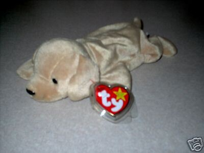 "TY Beanie Baby /""Fetch/"" the Retreiver Dog MWMT 5th Gen"