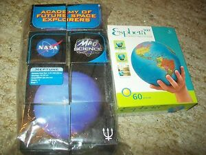 ESPHERA 60 Pc/3-D GLOBE Puzzle (NIB)& 8 NASA MAD SCIENCE ...
