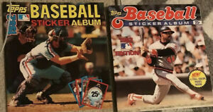 1981-1984-Baseball-Sticker-Books-Unused-Album-Sweet-81-82-83-84-Rare