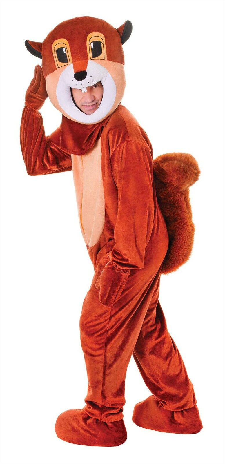 Squirrel, Big Head, Unisex Adult Fancy Dress Costume, One Size