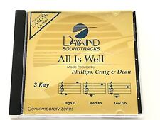 Daywind - Phillips, Craig & Dean - All is Well - accompaniment track cd