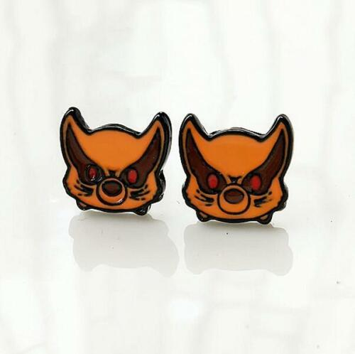 Naruto nine tails fox metal earring ear stud earrings anime Ear Ring one pair