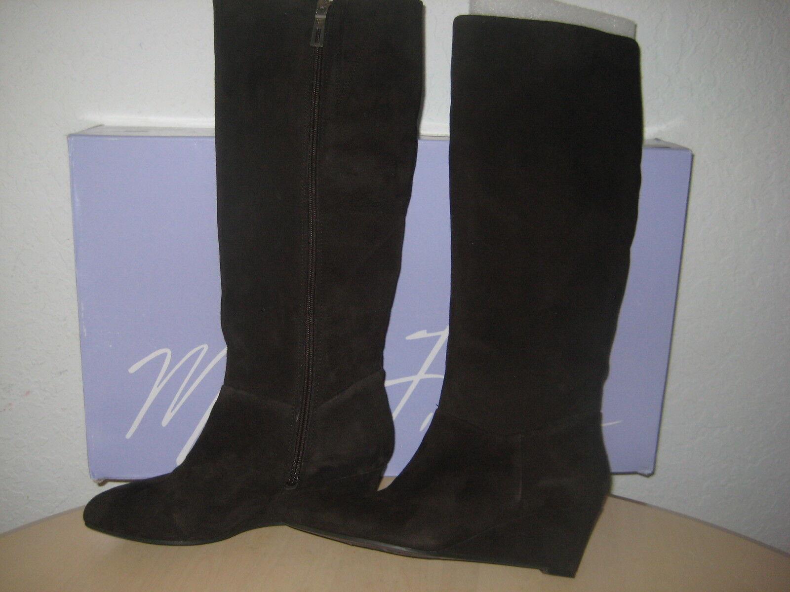 Marc Fisher Schuhes 6.5 M M 6.5 Damenschuhe New Verifies Dark Braun Suede Knee High Stiefel e44510