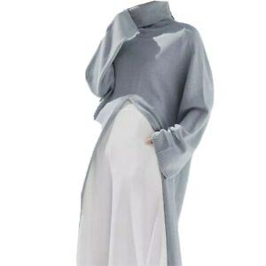 grey-wool-blend-turtleneck-oversized-split-maxi-jumper-winter-warm-sweater