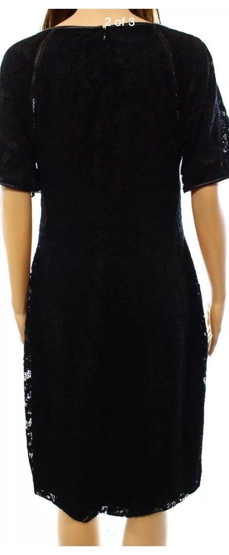 Lauren Ralph Ralph Ralph Lauren Nuevo Negro para Mujer Vestido Tubo sólido de encaje Talla 2  184 36904f