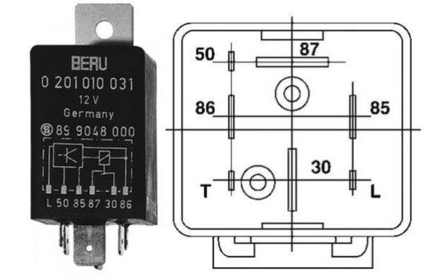 BERU Unidad de control tiempo incandescencia GR031