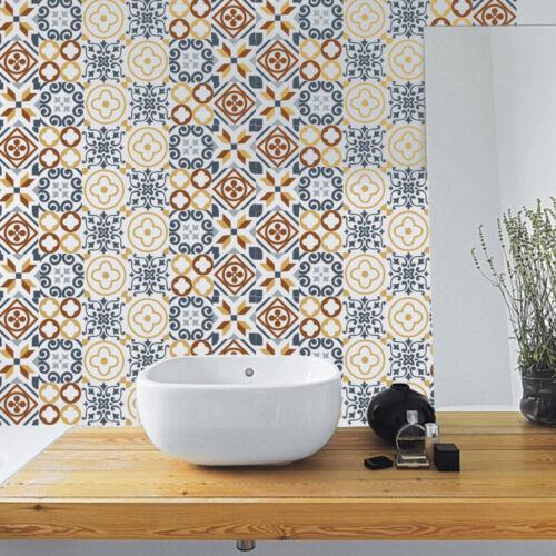 6Pcs Modern Self Adhesive Tile Art Wall Decal Sticker DIY Bathroom Decor Vinyl