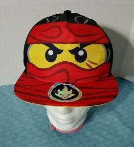 Lego Ninjago Kai Red Ninja Face Kids Cap