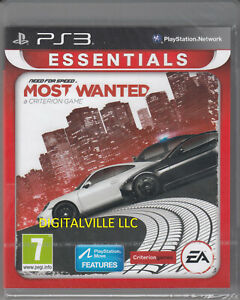 Need for Speed Most Wanted 2012 PS3 PlayStation 3 Brand New Factory Sealed
