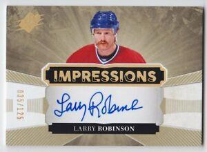 2017-18-UD-SPX-LARRY-ROBINSON-AUTO-035-125-IMPRESSIONS-AUTOGRAPH-IA-LR-Canadiens