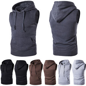 Men-Sleeveless-Hoodie-Tank-Tops-Gym-Sport-Muscle-Fitness-Hooded-Vest-T-Shirt-Tee