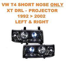 VW T4 Transporter Van & Bus DRL XTB Black Projector Headlights SHORT NOSE ONLY