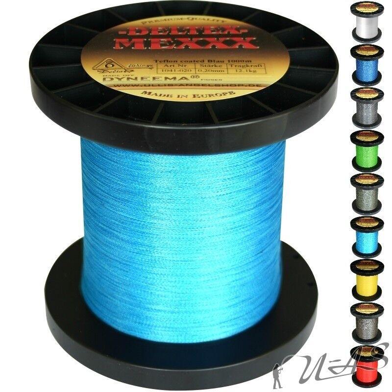 Deltex Mexxx Hi-Tec Rund Geflochtene Angel Schnur Teflon 0,50 1000MH-Blau Sha  | Bekannt für seine schöne Qualität