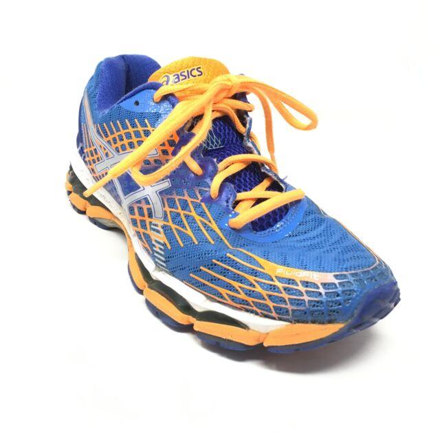 Men's Asics Gel-Nimbus 17 Running Shoes Sneakers Size 8.5 Blue Orange Silver O2