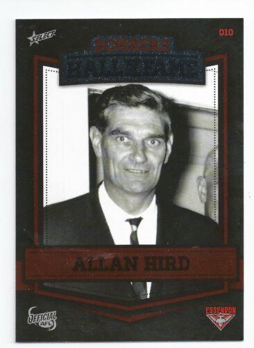 010 Essendon Hall of Fame Alan HIRD