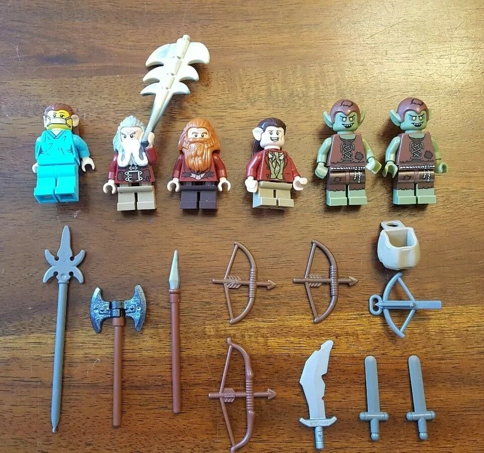 Lego Lord of the Rings the Hobbit Minifigure Lot of 6