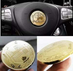 Mercedes-Benz-AMG-Steering-Wheel-Decal-GOLD-Badge-5-2cm-All-Models