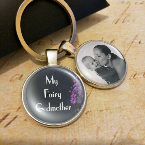 Personalized Photo Keyring Fairy Godmother Godfather Presents Keychain Gifts