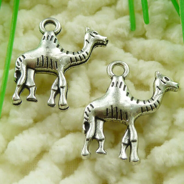Free Ship 35 pieces tibetan silver camel charms 22x15mm #953