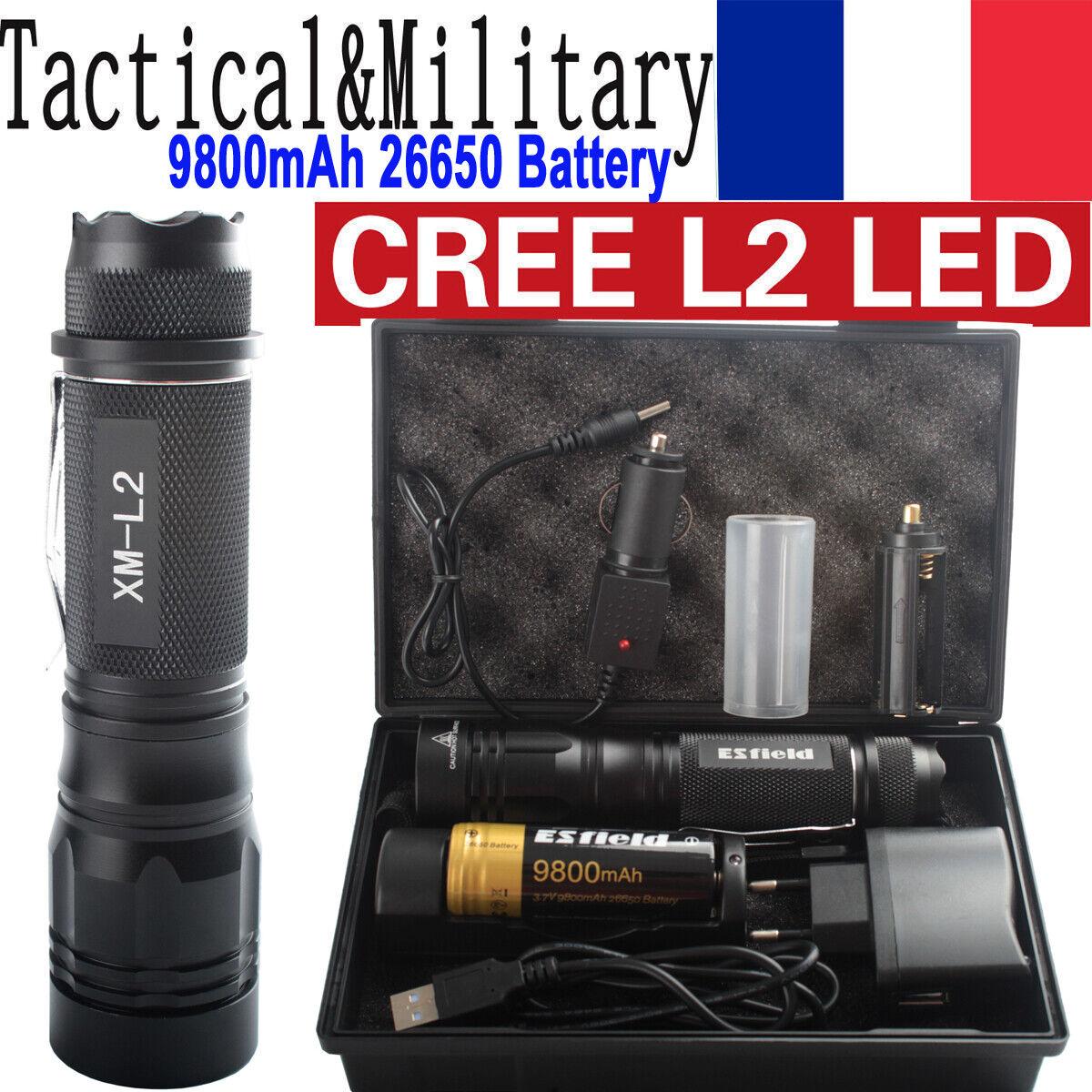 90000LM USB Police CRE XML L2 LED Linterna Militar táctica de la...