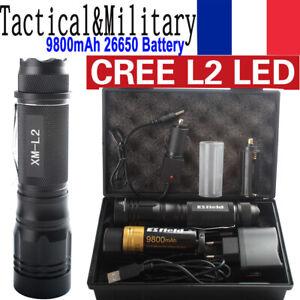 Lampe de poche militaire CREE L2 ampoule T6 led torche tactique 18650 batterie
