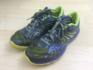 Saucony Womens Blue Gray Green Shoes Hydramax Kinvara TR2 Sz