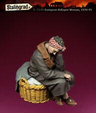 1/35 Escala Kit de modelo de resina Segunda Guerra Mundial 1939-45 civiles europeas Mujer refugiados #1
