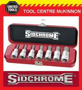 SIDCHROME-SCMT14274-7pce-1-2-DRIVE-METRIC-IN-HEX-ALLEN-KEY-SOCKET-SET