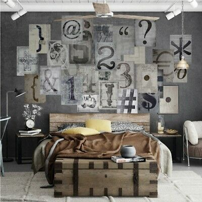 TYPO 1-64 Piece Designer Wallpaper Creative Collage Includes Paste