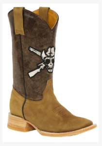 3d9582a1563 Details about Rockin Leather Ladies Outlaw Western Boots - OUT9000 - Cowboy  Boots skull