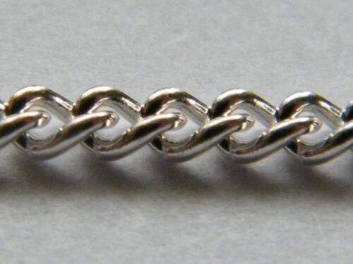 Plata Esterlina Llanura bordillo Suelto 3.5mm cadena gruesa hecha de alambre sólido 1.0mm