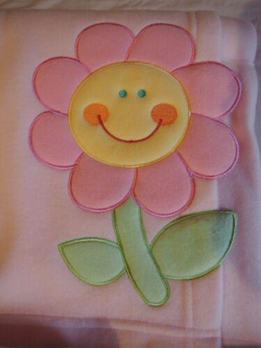 Kinderwagen Decke Baby Premium Fleece Decke  80 x 102 cm rosa Blume