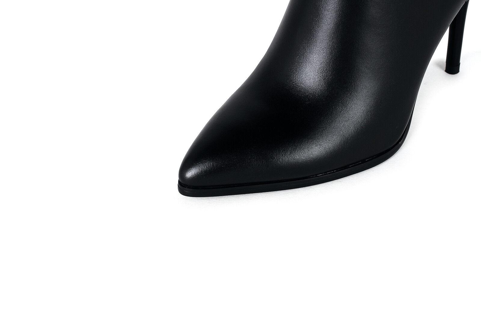 Zapatos Para Mujer Mujer Mujer Cuero Auténtico Tacón Alto Tacones Altos Cremallera Hasta Rodilla Botas Talla b060 96f966