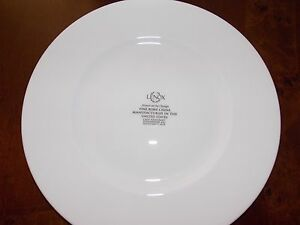 Image is loading NEW-LENOX-CLASSIC-WHITE-BONE-CHINA-SET-OF- & NEW LENOX CLASSIC WHITE BONE CHINA SET OF 4 DINNER PLATES 11