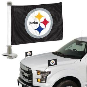 A imagem está carregando Pittsburgh-Steelers-Nfl-Embaixador-Carro-Bandeiras -Capo-Porta- 130813f692807
