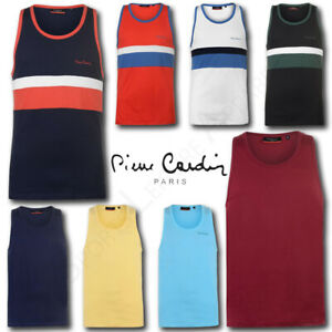 Mens-Vest-Top-Pierre-Cardin-Sleeveless-Summer-Beach-T-Shirt-Tee-Size-M-L-XL-XXL