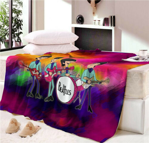 The Beatles Blanket Flannel Soft Warmth Cozy Sofa Couch Bed Fleece Throw Blanket