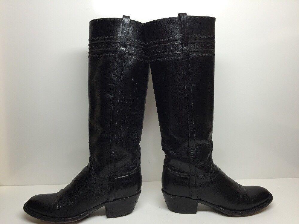 G WOMENS UNBRANDED RIDING BLACK BOOTS SIZE 6.5 B B B a8d174