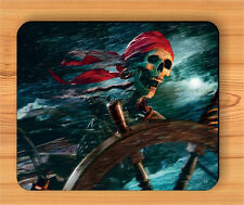 SKELETON PIRATE IN STORM MOUSE PAD -akn8Z