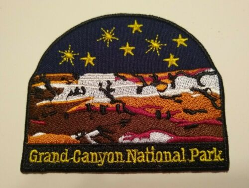 """Grand Canyon National Park~USA~Embroidered Patch~3 1//8/"""" x 2 5//8/""""~Iron or Sew On"""