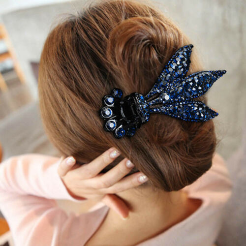 Para mujeres Cristal Hair Clips Garras De Horquilla Broches Pins Pelo apretones de accesorios