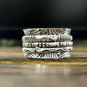 Solid 925 Sterling Silver Spinner Ring Anxiety Ring Meditation Handmade kd9281